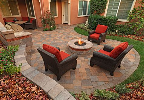 Terracotta Pit Outdoor Terracotta Patio Modern With Paving Pit And