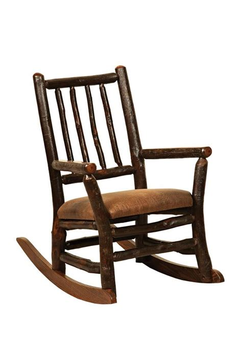 amish rustic hickory child rocking chair