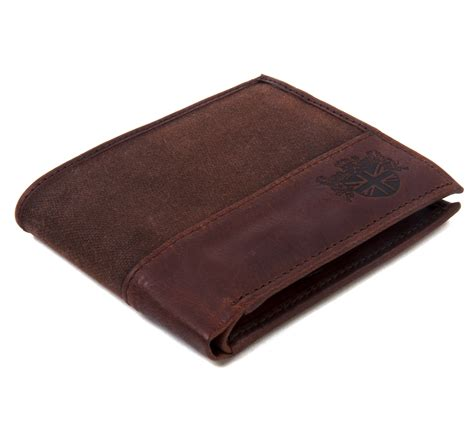Wallet Brown brown wax canvas leather credit card wallet pink cat shop