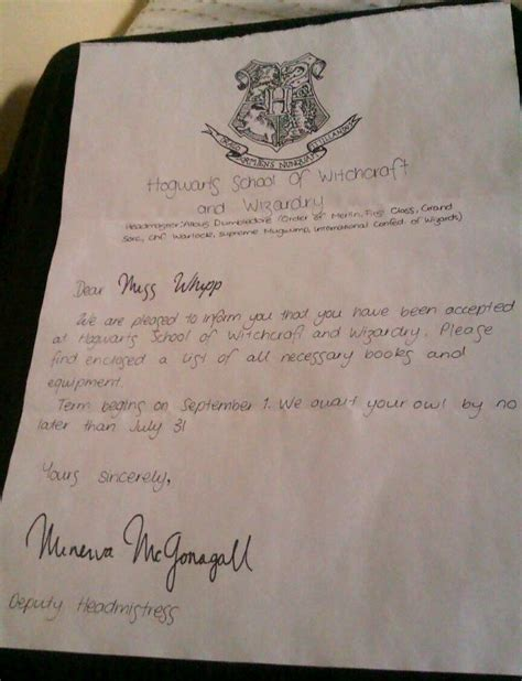 Acceptance Letter To Hogwarts Generator 640px