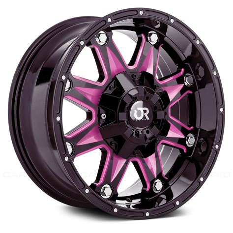 Pink Wheel by Rtx 174 Spine Wheels Gloss Black With Pink Accents Rims