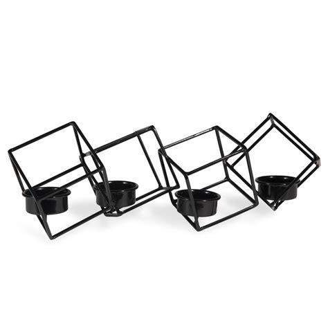 kerzenhalter metall kerzenhalter aus metall schwarz h 12 cm kubik maisons du