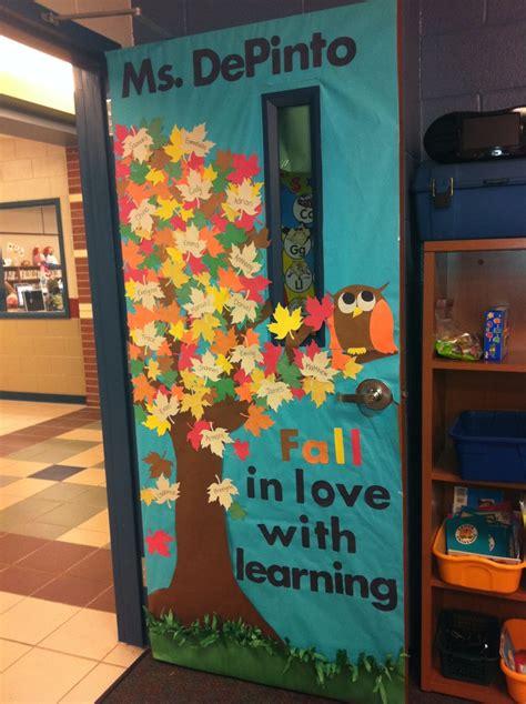 fall classroom door with students names door ideas fall classroom door