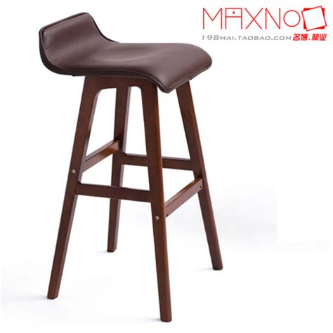 Barstool Chairs For Home Use European Style Furniture Solid Wood Bar Chair Home