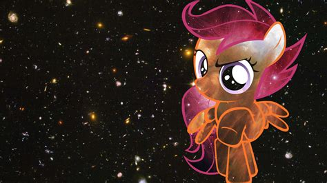 little space wallpaper scootaloo space wallpaper by dragonkittypi on deviantart