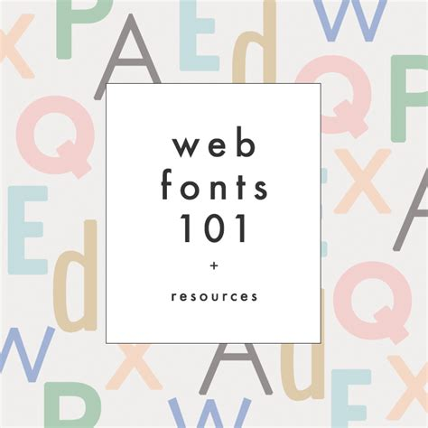 Tutorial Web Fonts | web fonts 101 resources the blog market