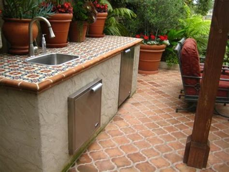 Outdoor Kitchen Tile by Selecting Outdoor Tile Landscaping Network