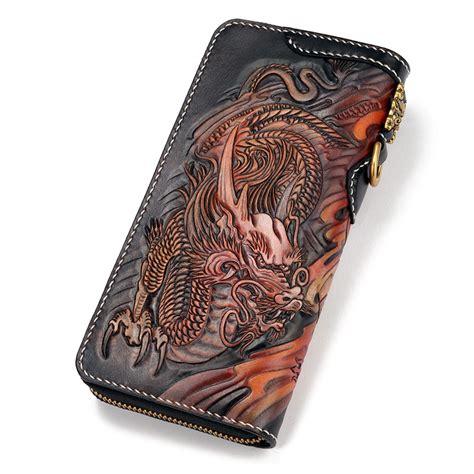 Handmade Wallets - handmade tool leather biker wallets and god