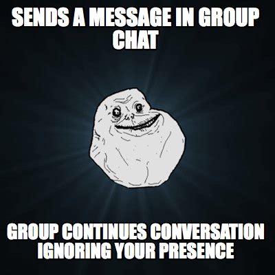 Memes For Conversation - meme creator sends a message in group chat group
