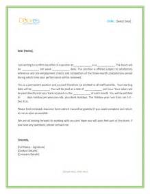 offer template offer letter uk template free