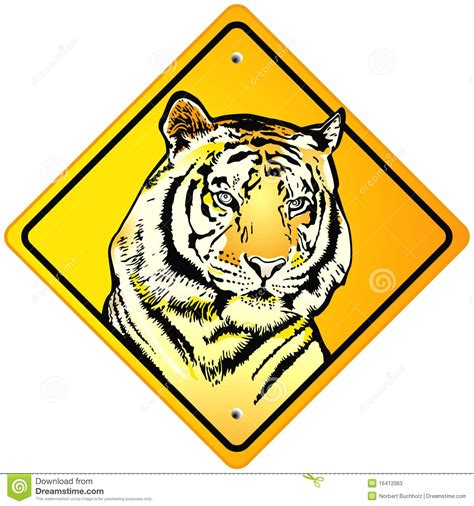 tiger sign stock photos image 16412063