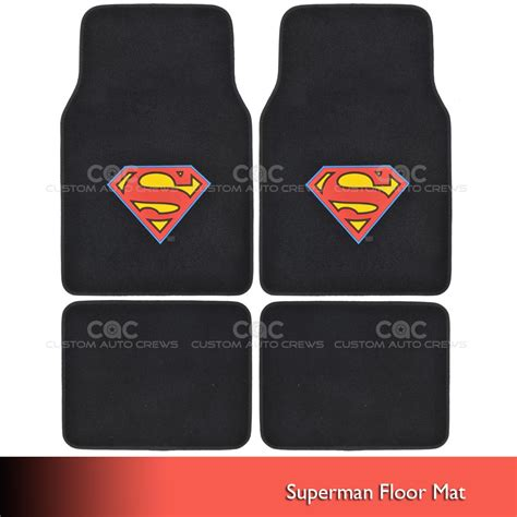 Superman Floor Mats by Official Products Wb Superman Floor Mats For Car Suv Fan
