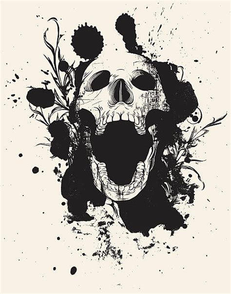 skull clipart mouth open clipground