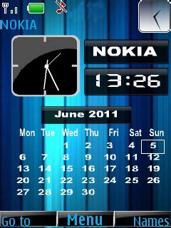 clock theme nokia 110 download nokia clock s40 theme