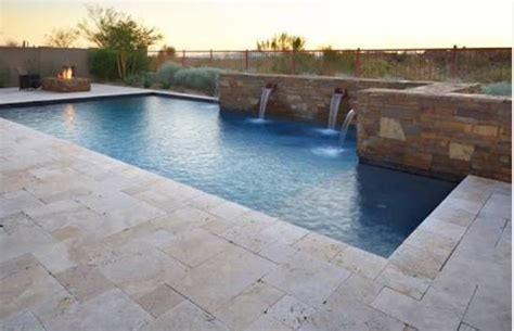 Blue Bathroom Design Ideas by Travertine Outdoor Pavers Floor Amp Wall Tiles Pool Coping