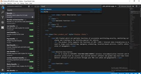format html code in visual studio laravel how to format php files with html markup in