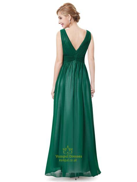 P156 L Dress Lace Green emerald green chiffon evening dress lace appliques green