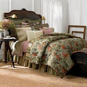 green floral comforter sets chaps home brittany green floral comforter for green