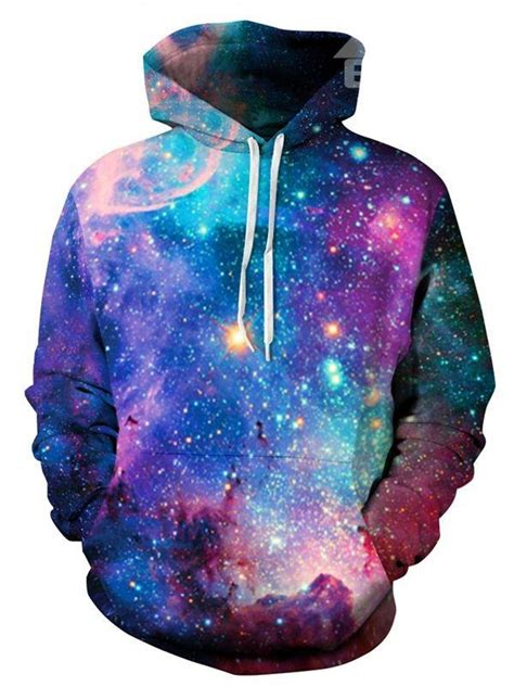 galaxy pattern clothes fashion long sleeve galaxy colorful front pocket pattern