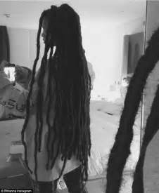latest dread rihanna reveals new hairstyle featuring hip length