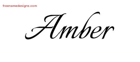 tattoo ideas for the name amber calligraphic name tattoo designs amber download free