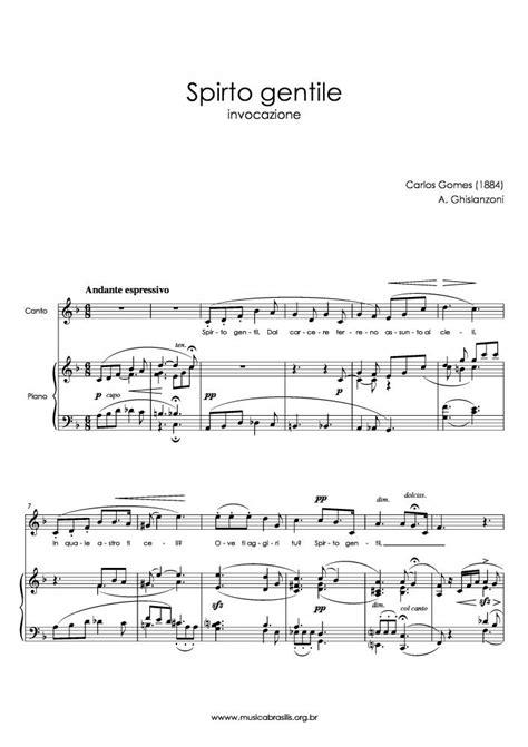 Carlos Gomes - Spirto gentile | Musica Brasilis