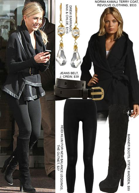 Aniston Wanderlust Wardrobe by Aniston Wanderlust Fashion Black Wrap Coat Boots Real Style Fashion