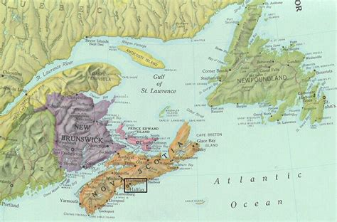 map eastern canada provinces the atlantic canadian battlefields foundation