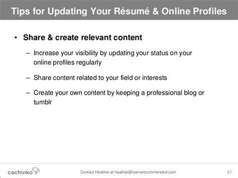 Tips For Updating Resume