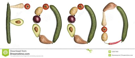 5 Letter Words Vegetable the word food made out of vegetables stock photo image