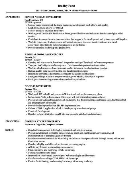 Node Js Resume nodejs resume talktomartyb