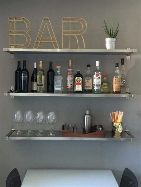 home bar decor 25 best ideas about bar shelves on industrial