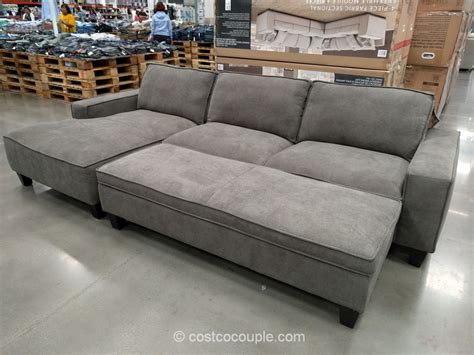 Costco Sleeper by Sectional Sofa With Chaise Costco Fabric Sofas Sectionals