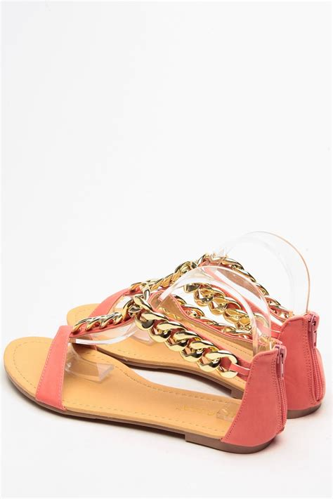 Sandal Cozmeed Slempang Coral 1 liliana gold chain t coral sandals cicihot sandals shoes store sale