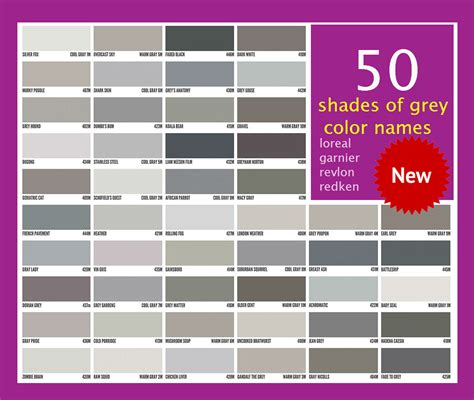 shades of gray colors gray hair color chart www pixshark com images