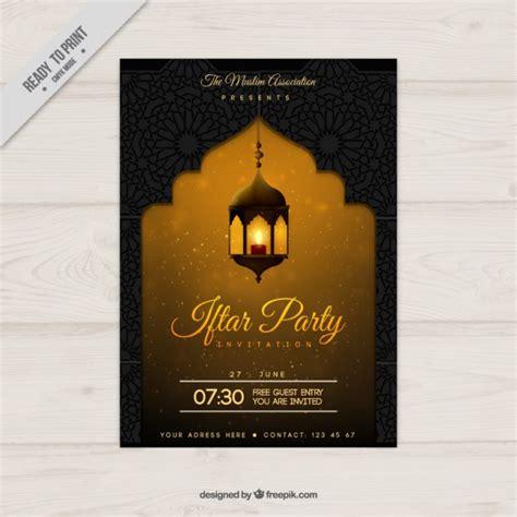 iftar menu card template yellow ramadan poster vector free