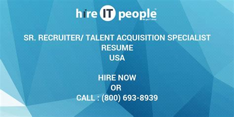 Talent Acquisition Specialist by 100 Talent Acquisition Specialist Resume Free Hr Specialist Resume Business Agenda
