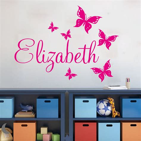 personalized wall decor for home custom name wall stickers home decor girls bedroom sticker