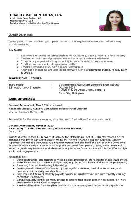cv of charity mae contridas cpa