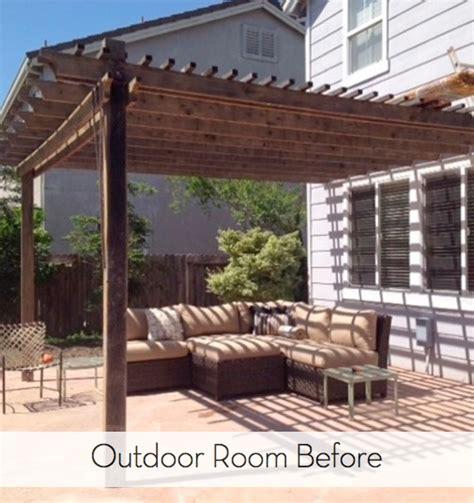 diy outdoor room an outstanding outdoor room makeover 187 curbly diy design