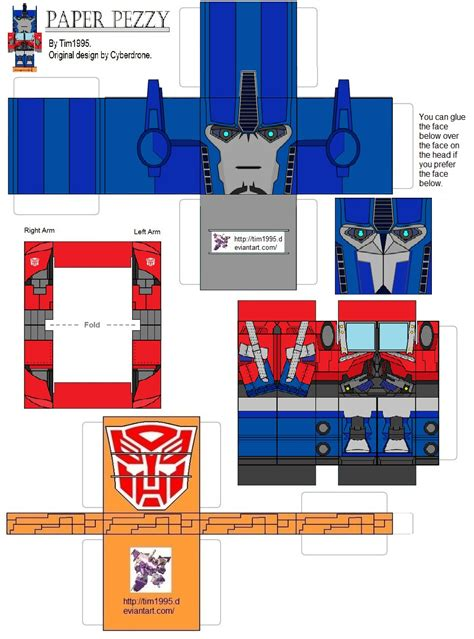 How To Make A Paper Transformer - prime optimus prime by tim1995 on deviantart