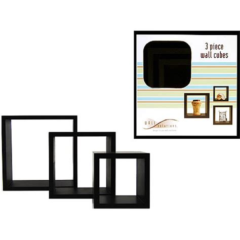 3 wall cube shelves black walmart