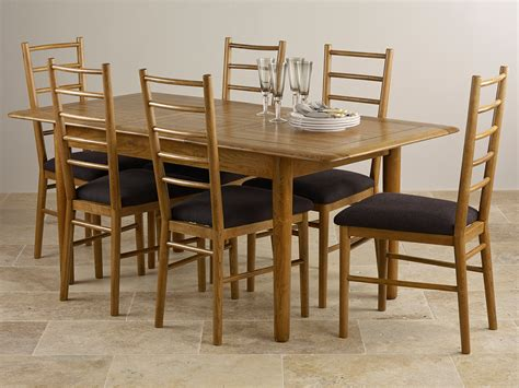 5 X 3 Dining Table Osaka Rustic Solid Oak 4ft 7 Quot X 3ft Extending Dining Table 6 Dining Chairs