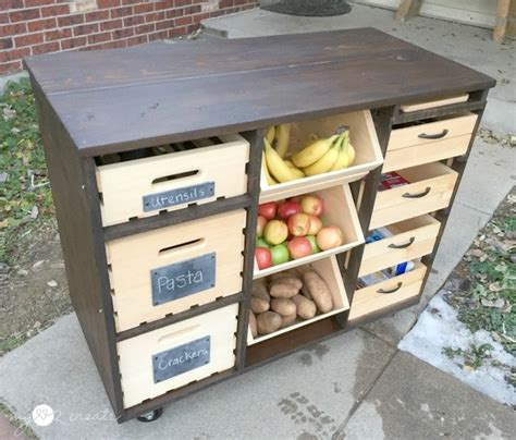 Farm Table Kitchen Island build your own mobile kitchen island with wooden crate