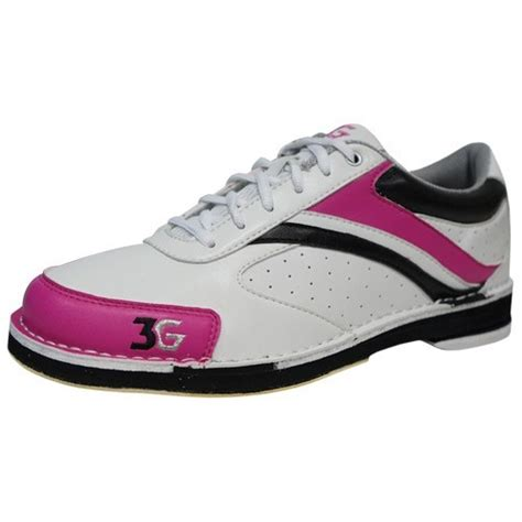 3g s classic black pink left bowling shoes