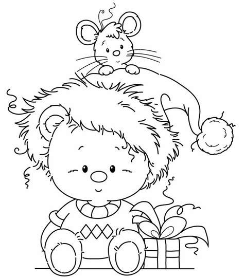 imagenes hermosas de navidad para colorear imagenes de navidad para colorear osito y raton