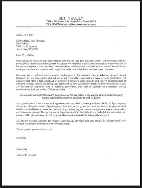 application letter teacher experience job cover