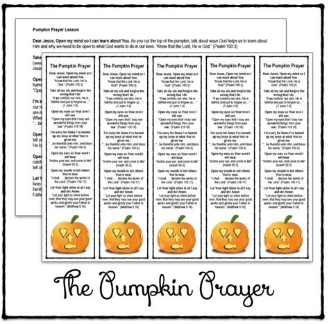 Printable Pumpkin Bookmarks | half a hundred acre wood the pumpkin prayer bookmarks and