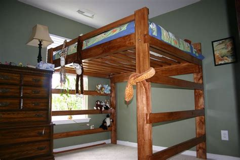 Build Loft Bed Frame Building Plans For Loft Bed With Desk Discover Woodworking Projects