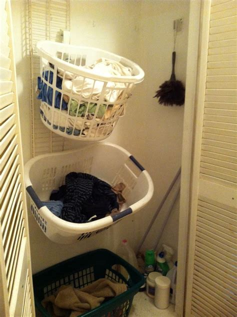 Hall Closet Vertical Laundry Sorter Use An Old Closet Vertical Laundry
